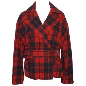 The limited wool blend plaid vintage jacket size 8